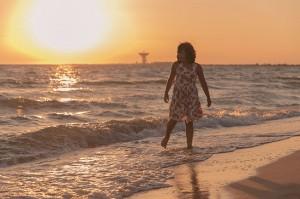 Песчанка, закат на море, 20 июля 2015