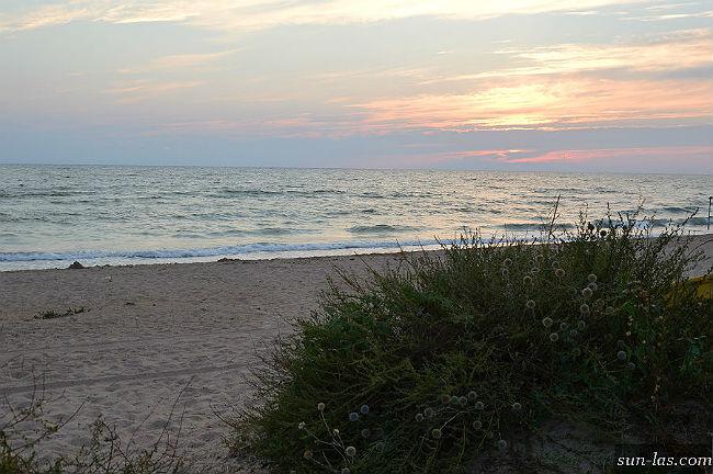 Вечер, закат на Песчанке
