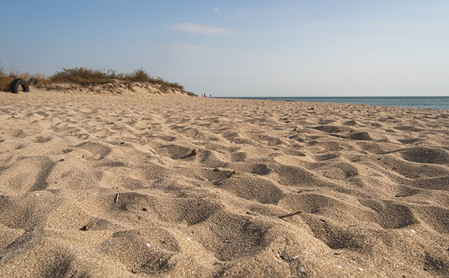пляж, осень, Заозерное, Песчанка